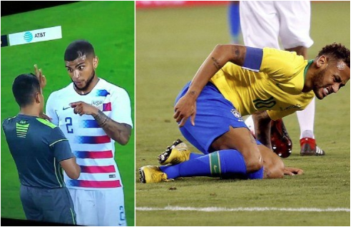 DeAndre Yedlin's Comment To The Referee After Fouling Neymar Instantly Goes Viral