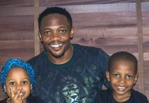 Ahmed Musa Releases Magnificent Picture Of Himself And His Two Children