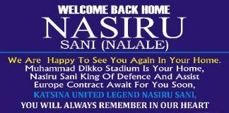 Nasiru Sani Returns Back Home